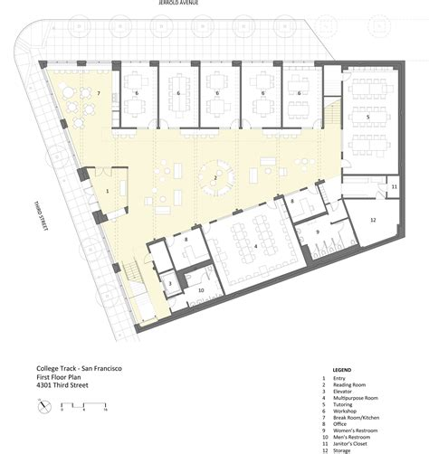 college floor plans college track turnbull griffin haesloop architects archdaily