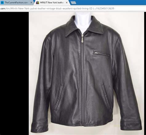 New York Jacket Murah winlit new york leather jacket vintage black excellent quilted lining thecurrentfashion