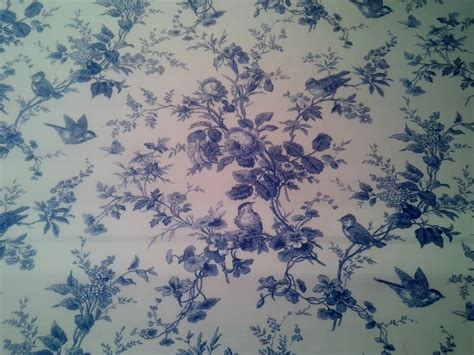 blue and white fabrics upholstery toile blue and white birds floral 100 cotton branches