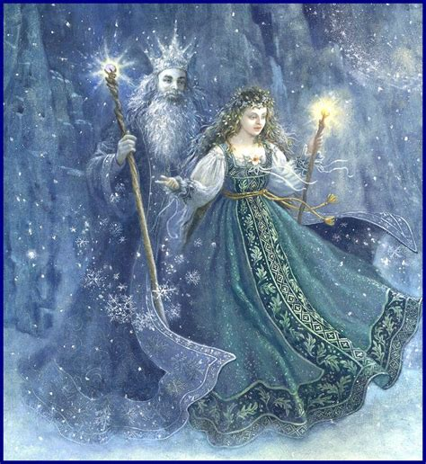 zyla pixie spring artists father frost and mother spring artwork ruth sanderson