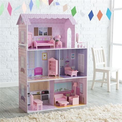 walmart doll houses monster mansion wooden doll house walmart com