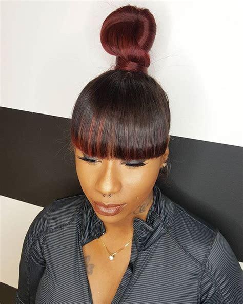 teen hairstyles for black girls bun and bang best 25 ninja bun ideas on pinterest dope swag black