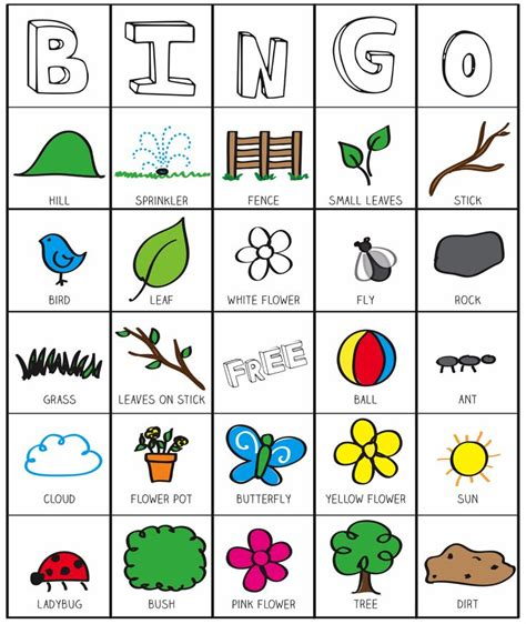 printable youth games outside bingo printable inspired by the garden classroom