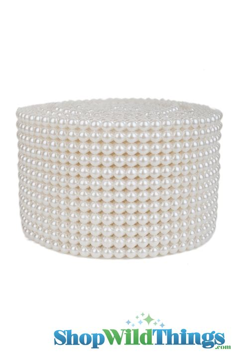 pearl wrap pearl wrap 10 yards pearls on a roll roll of pearl