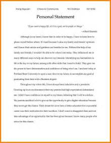 personal statement template 7 personal statement exles for scholarships attorney