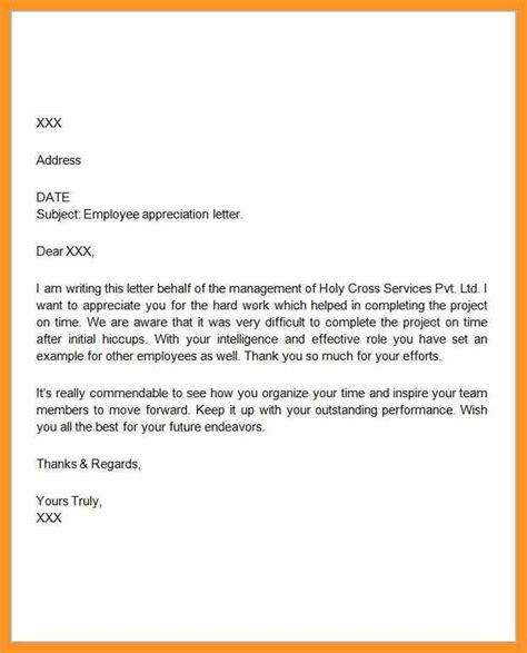 thank you letter to for recognition employee appreciation letter sle bio letter format