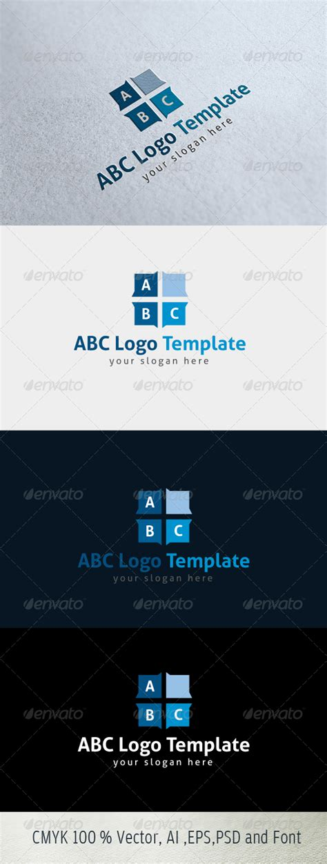 abc text logo template graphicriver