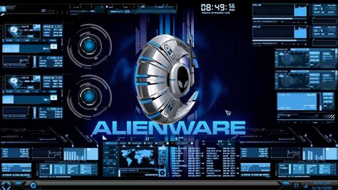 download live themes for windows 10 hud theme evolution rainmeter alienware media skin