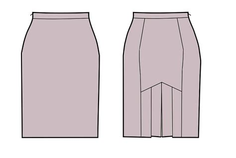 pattern drafting pencil skirt pencil skirt with pleats in the back sewing pattern