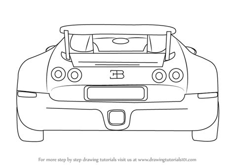 learn how to draw bugatti veyron sports cars step by step by step how to draw a bugatti veyron rear