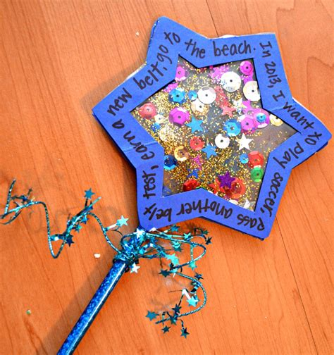 new year craft for preschoolers new year s wishing wand family crafts