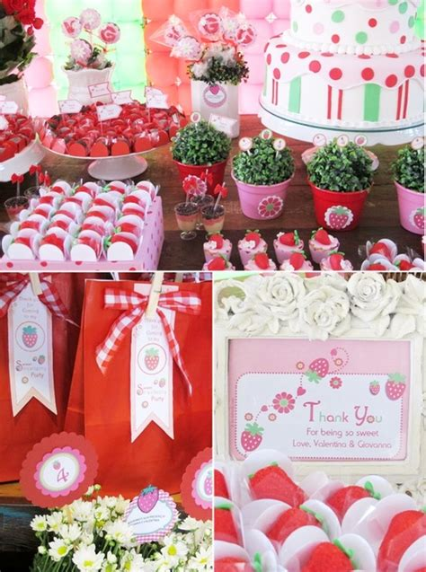 themes for joint birthday parties 82 best strawberry shortcake party images on pinterest