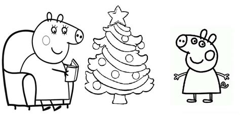christmas colouring pages peppa pig peppa pig colouring pages for kids