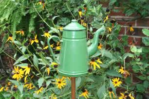This coffee pot accents an area in my summer garden when i like to