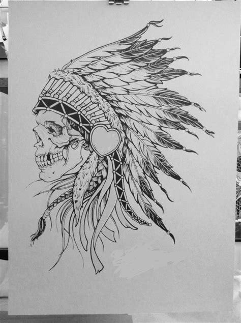 headdress tattoo designs skull in headdress tattoos piercings