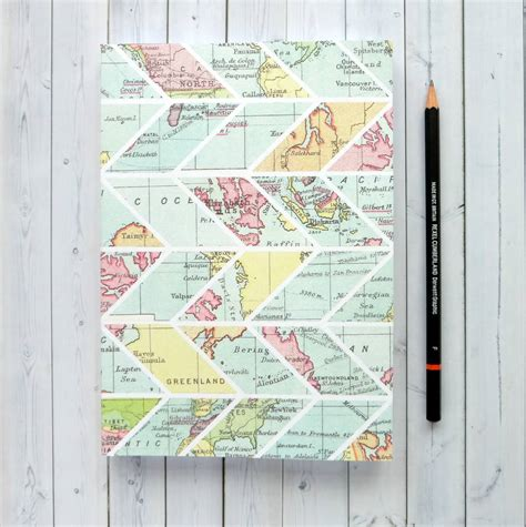 pattern of journal writing map chevron pattern writing journal by bookishly