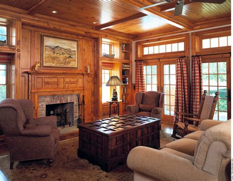Interior creative picture of living room decoration using solid light oak wood paneling