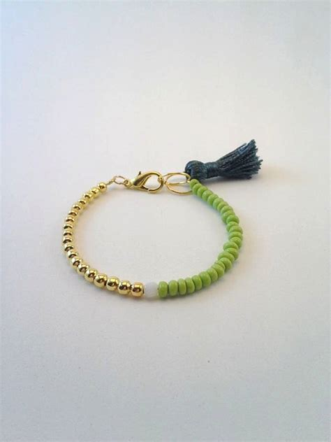 lovely handmade mixedmedia bracelet simple jewelry gift