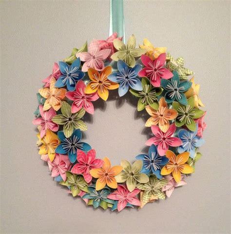 making origami wreaths spring bloom origami kusudama paper flower wreath 12