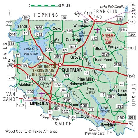 wood county texas map wood county the handbook of texas texas state historical association tsha