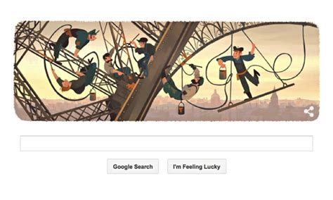 doodle 4 lã gã doodle marks day eiffel tower was opened to