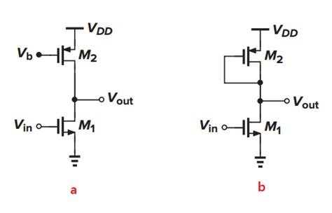 diode with current source common source circuit with current source and diode connected load electrical engineering