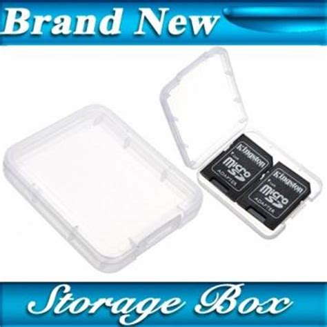 Holder Plastic Storage Box For Memory Card 4 Comp Limited micro sd sdhc mmc cf memory card plastic clear holder box storage us 0 93