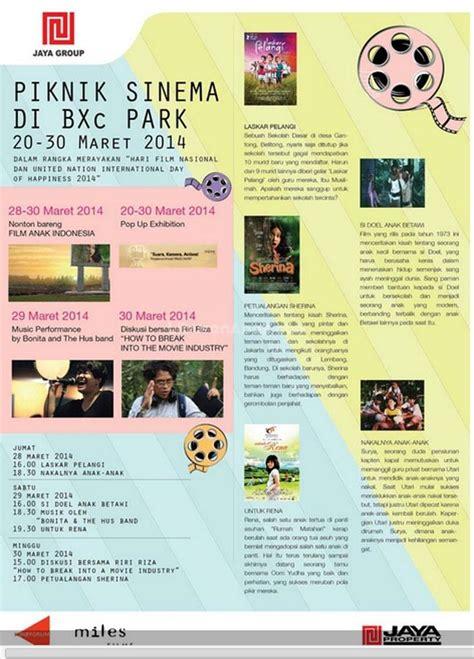 jadwal film bioskop hari ini di xchange bintaro piknik sinema di bxc park kids parents events