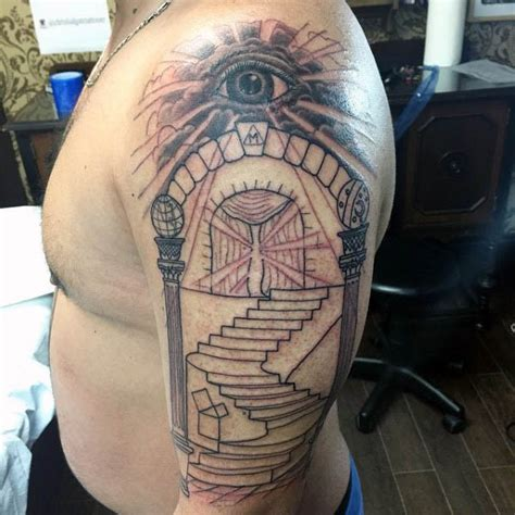 shriner tattoo designs 90 masonic tattoos for freemasonry ink designs