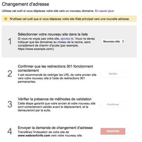 changement adresse si鑒e social changer l adresse d un site outil seo dans search console