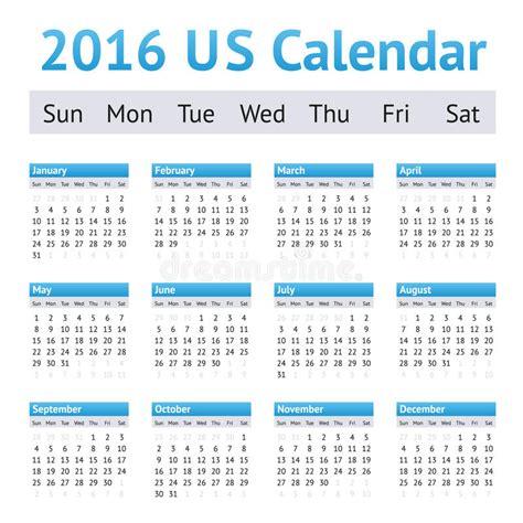 english calendar 2016 design stock vector image 61777684 2016 us american english calendar week starts on sunday