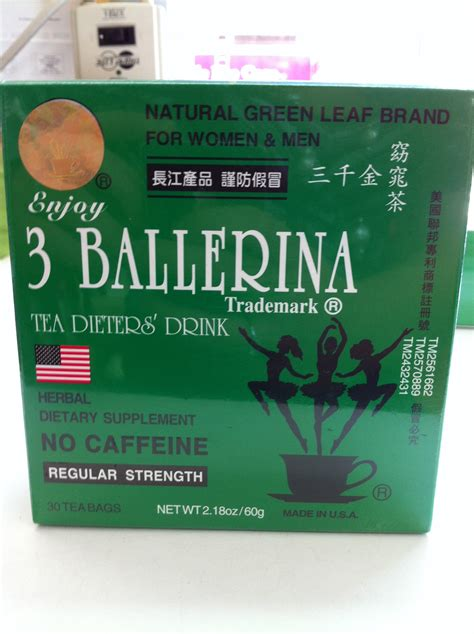 Ballerina Detox Tea Reviews by 3 Ballerina Tea Regular Strength New Sea Win