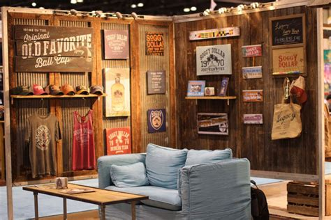 home decor exhibition legacy legacy a maker of apparel headwear and home decor surrounded its booth with barn