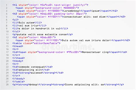 html simple code vector colorful abstract program tags in
