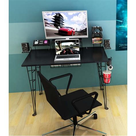 atlantic 33935701 gaming desk atlantic gaming center desk black 33935701