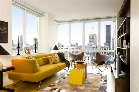 luxury 1 bedroom apartments nyc modern sleek finishes residential apartment interior