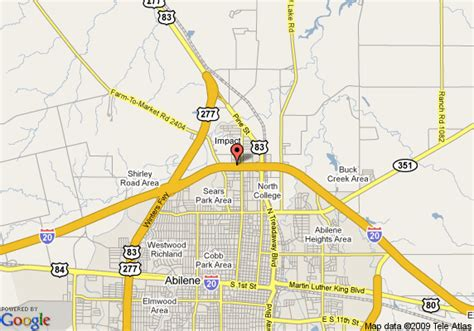 abilene texas map map of inn express hotel and suites abilene abilene
