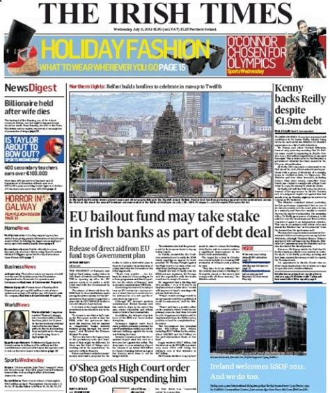 bank of ireland deutschland wednesday newspaper review business news and