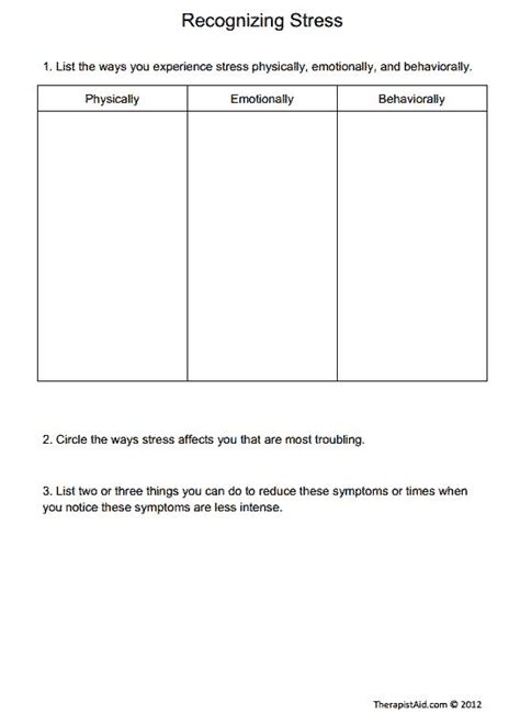 printable stress quiz for adults recognizing stress preview psicolog 237 a pinterest