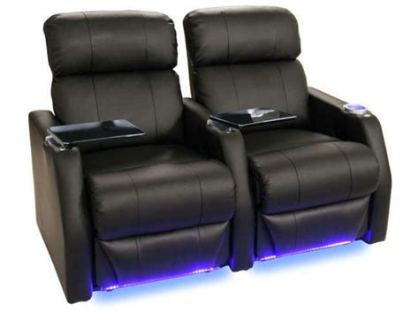 recliner chairs theater seatcraft home theater seating 2 black seats power