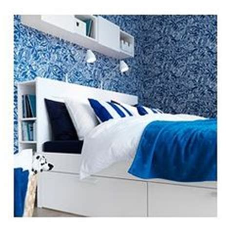 brimnes bed with lack shelf as bedside table ikea 1000 images about our room on pinterest bed frame with