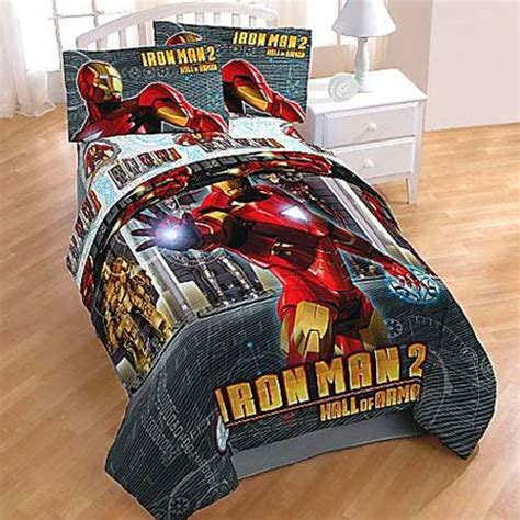 iron man twin sheets hall of armor bed sheet set boys