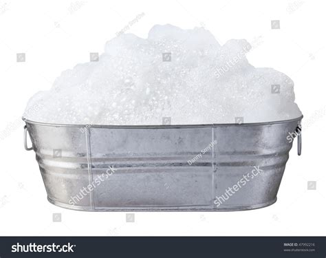 In A Tub Soap Suds Bubbles Tub Isolated On Stock Photo 47992216