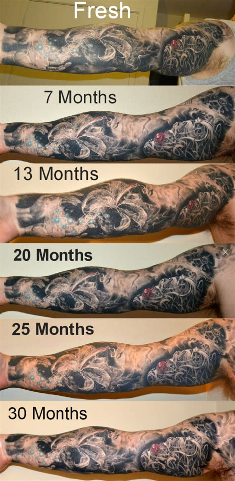 watercolor tattoo 5 years later aging ageing tattoos time