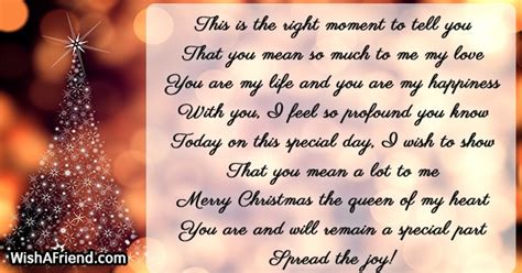 moment  christmas message  wife