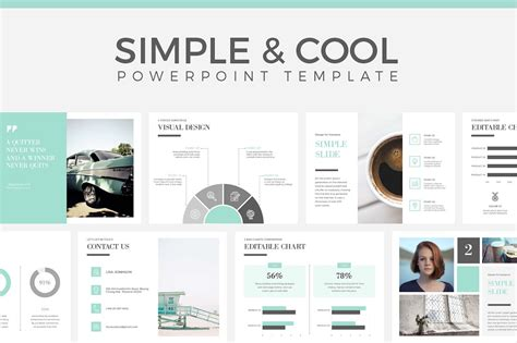Simple Cool Powerpoint Template Presentation Templates Presentation Magazine Free Powerpoint Template