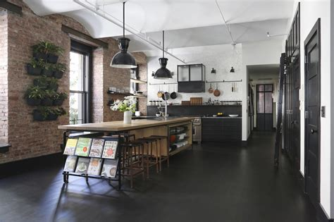 Corner Kitchen Island by A Rugged Rustic Nyc Loft By Matt Bear Of Union Studio