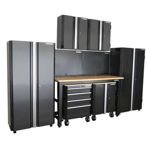 Husky Steel Cabinet by Husky 98 In H X 145 In W X 24 In D Steel Garage Cabinet