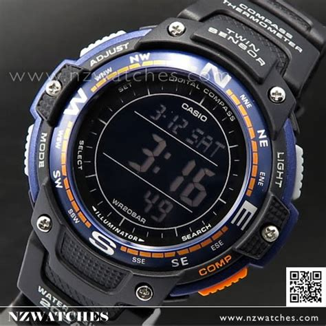 Casio Thermometer buy casio protrek compass thermometer 200m sgw 100 2b sgw100 buy watches casio