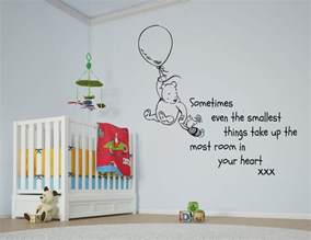 winnie the pooh giant wall stickers disney winnie the pooh balloon quote large wall sticker